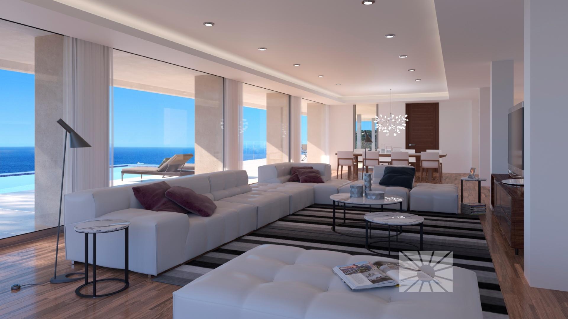 Villa la cala chalet de lujo moderno en venta en for Planos de chalets modernos