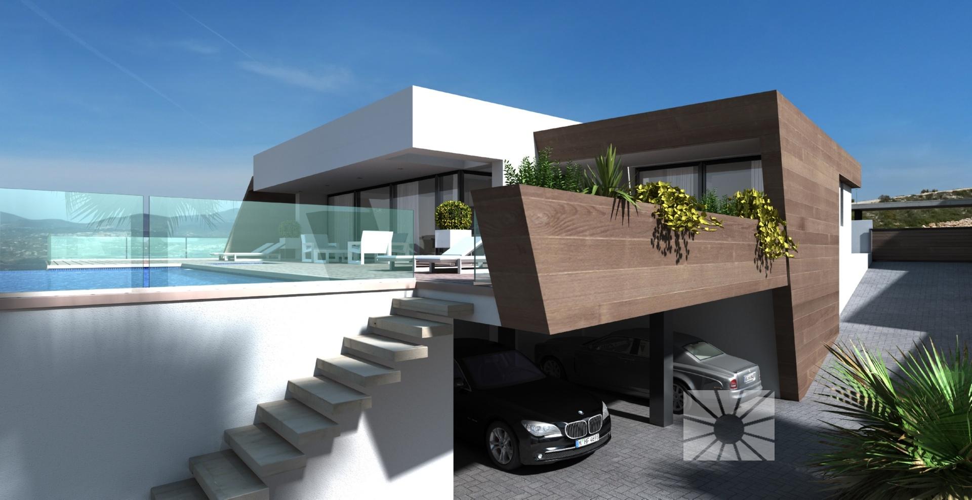 Villa bellavista chalet de lujo moderno en venta en for Planos de chalets modernos