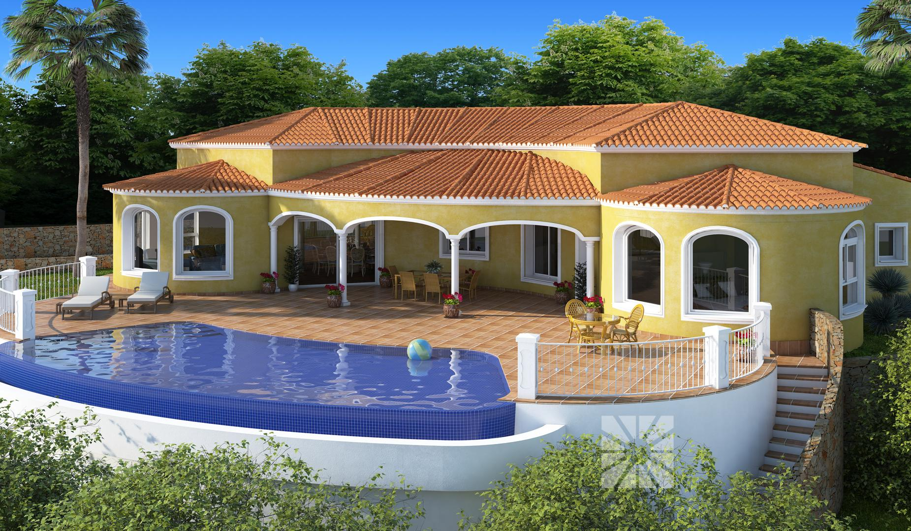 Venta chalets en cumbre del sol villa modelo sevilla de - Modelos de chalet ...