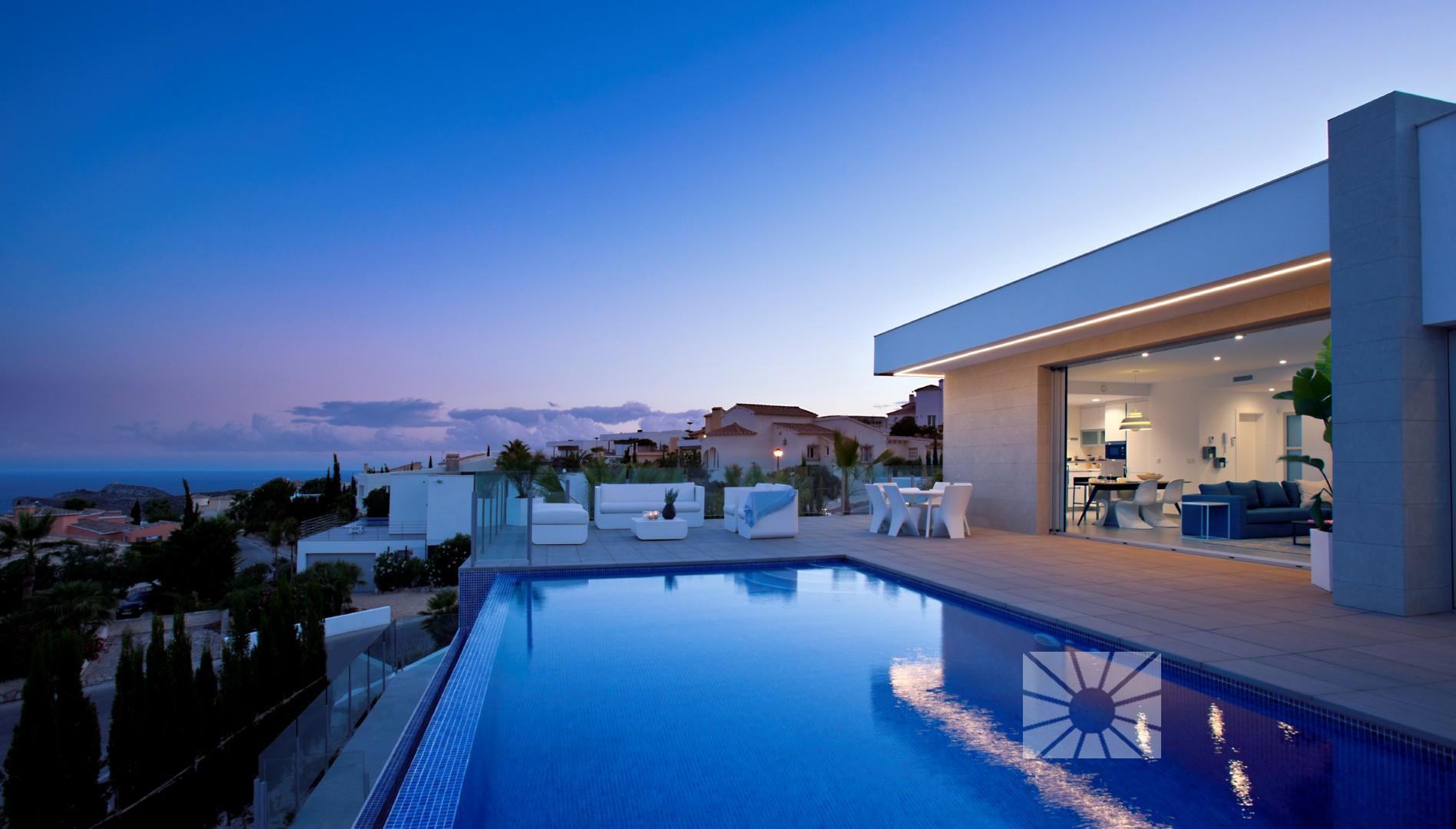 Idee Eclairage Terrasse Piscine lirios design cumbre del sol villa moderne à vendre ref
