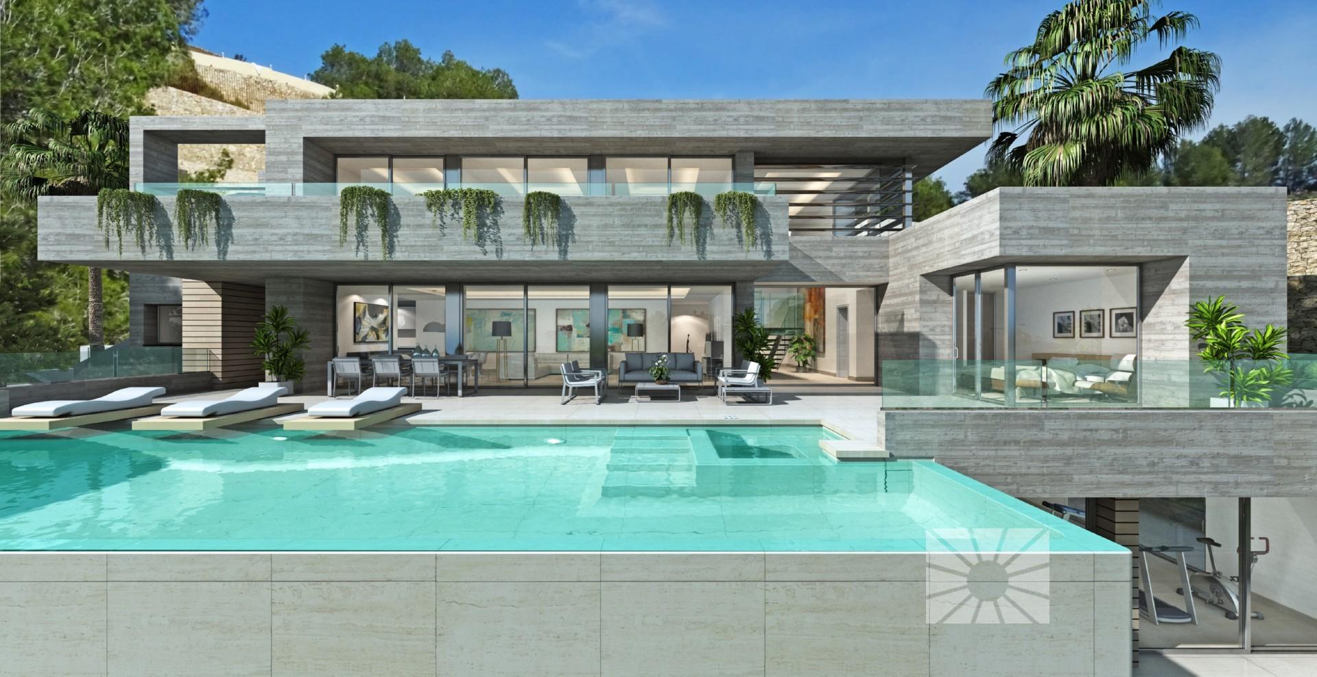 Raco galeno venta de villa moderna ref fa034 modelo sena for Mar villa modelo