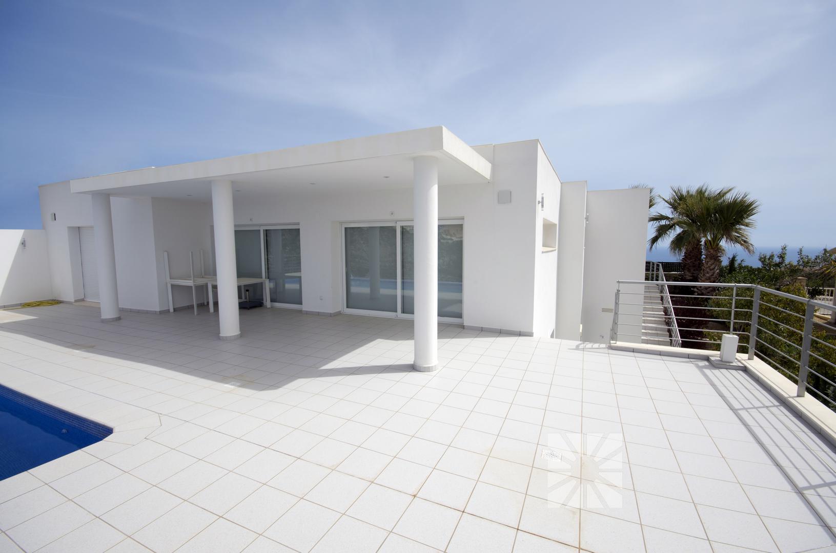 Limnos, zeitgenössisches Haus mit herrlichem Blick über die ...