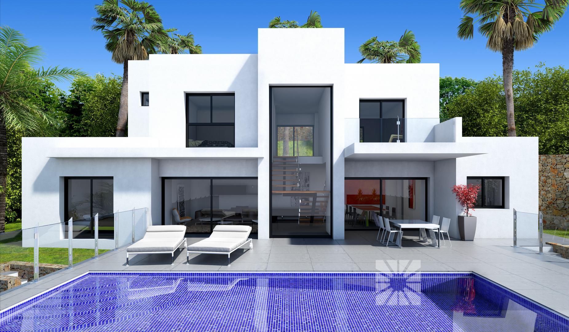 Vivienda moderna frente al mar for Mar villa modelo