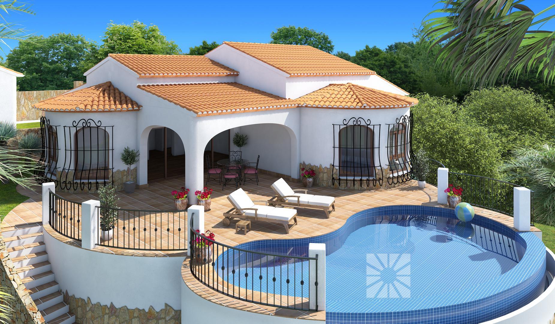 Venta chalets en cumbre del sol villa modelo oslo de 163 80 m2 - Modelos de chalet ...
