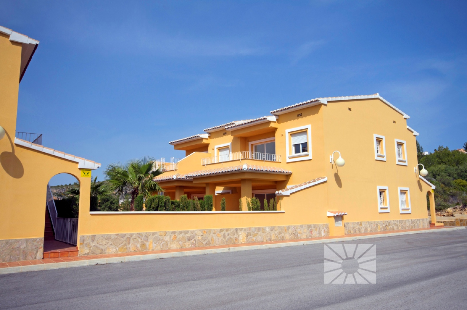Marketing Exterior View towards Benitachell Cumbre del Sol PALM TREES JARDINES DE MONTECALA
