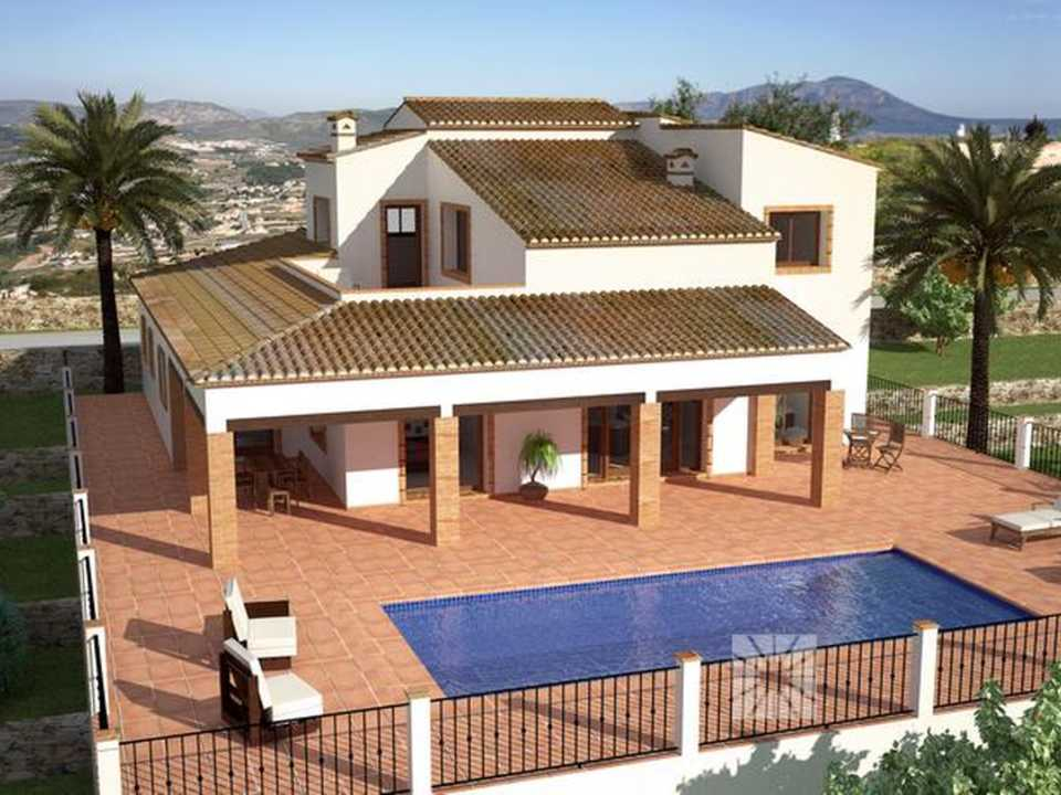<h1> Villa model TENERIFE, villas for sale in Cumbre del Sol Costa Blanca.</h1>