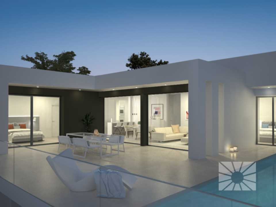 Magnolias Sunset Cumbre del Sol modern villa for sale ref: AM120 model Hiedra