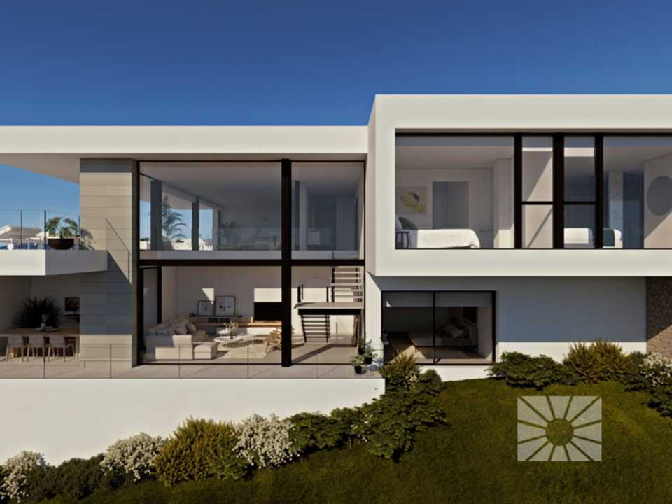Marketing Exterior Contemporáneo SUPERIOR PE041 Villa MARESME