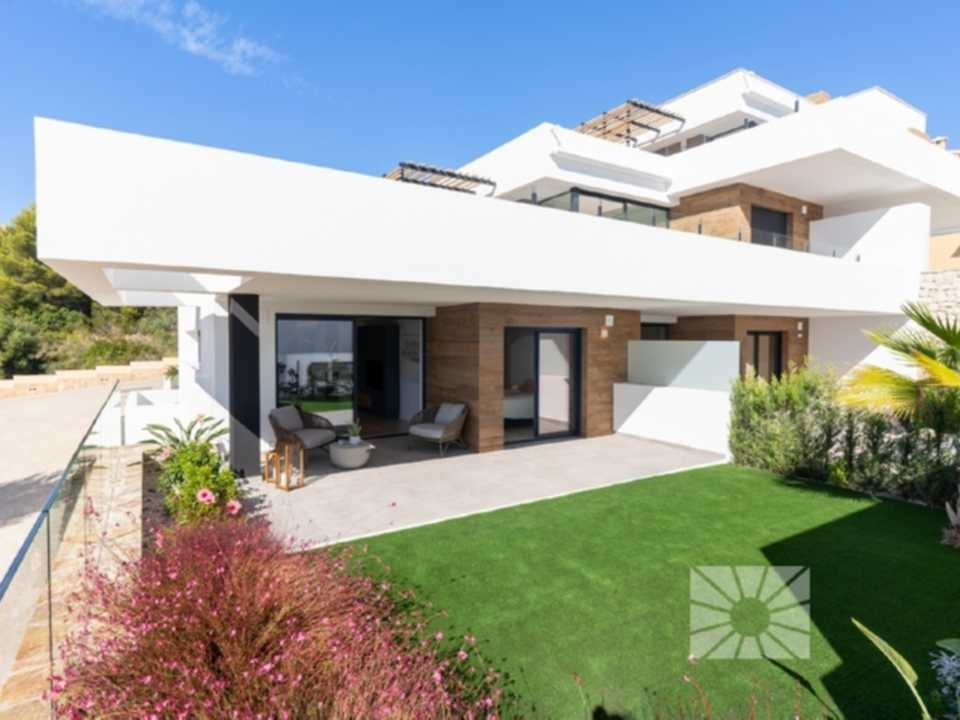 Montecala Gardens Cumbre del Sol modern new built apartments for sale in Benitachell ref: PH009