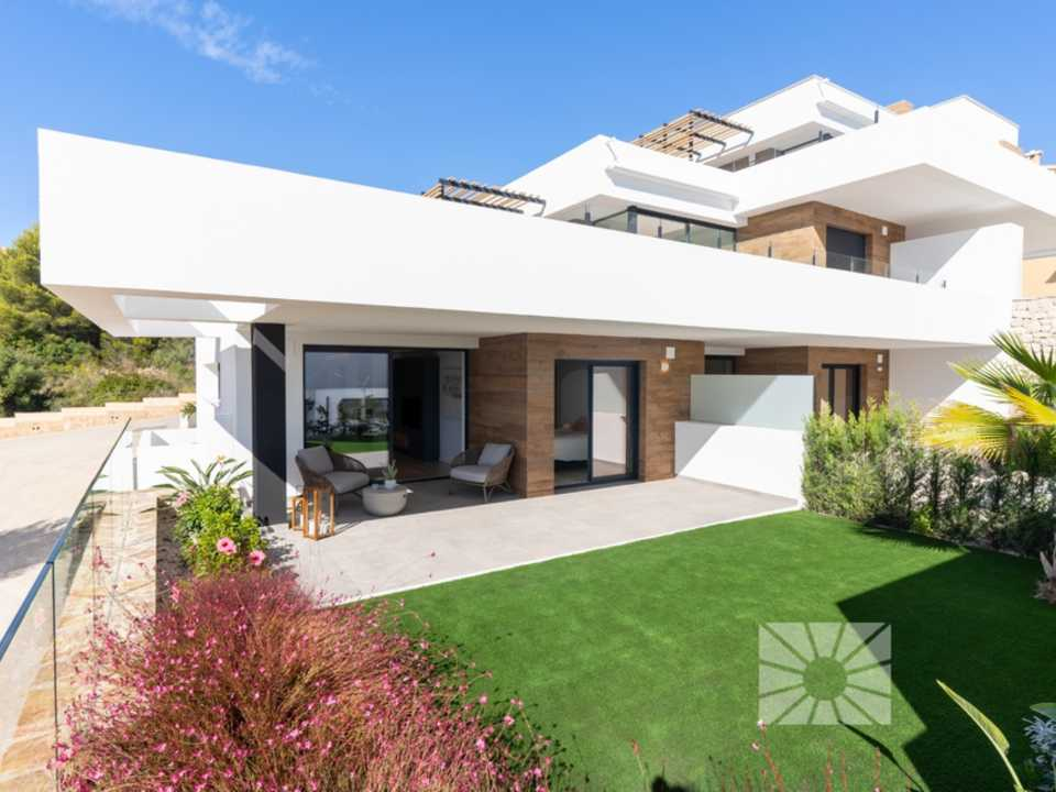 Montecala Gardens Cumbre del Sol modern new built apartments for sale in Benitachell ref: PH001
