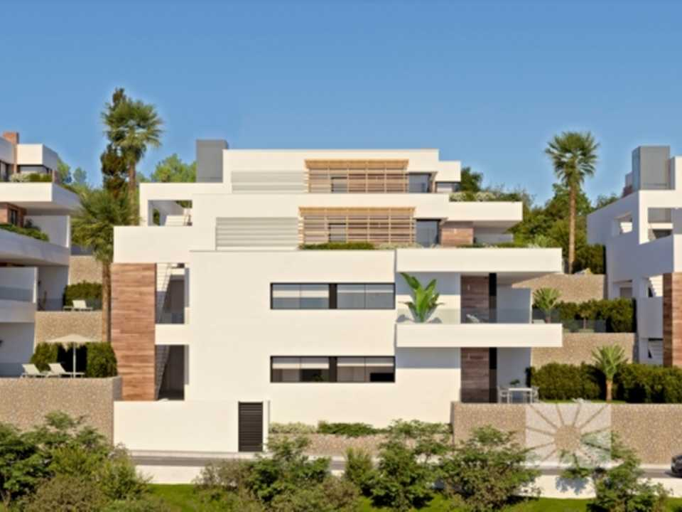 Montecala Gardens Cumbre del Sol modern new built apartments for sale in Benitachell ref: PH007