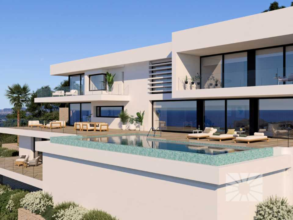 Marketing Exterior Contemporáneo SUPERIOR PE033 Villa MARBLAU