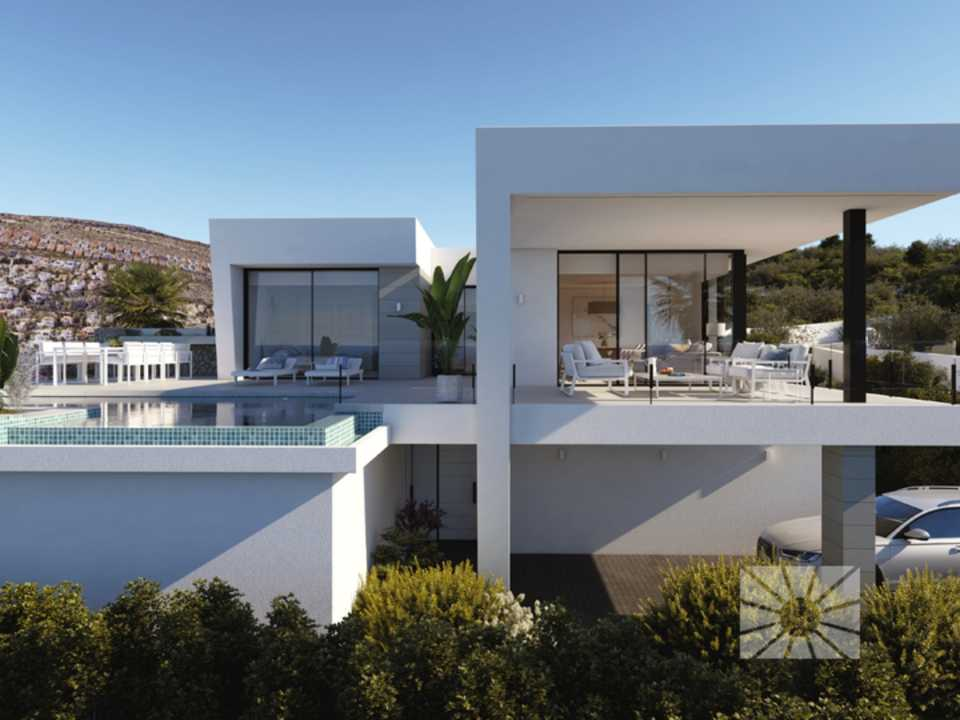 Encinas Design Cumbre del Sol modern villa for sale ref: AE121 model Nature