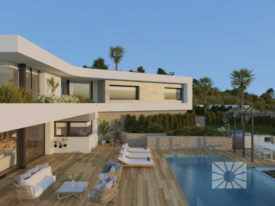 Marketing Exterior Contemporáneo SUPERIOR EP136 Villa EDEN
