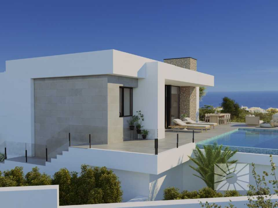 Marketing Exterior View from Benitachell Cumbre del Sol MAGNOLIAS AM03 RESIDENCIAL MAGNOLIAS DESIGN