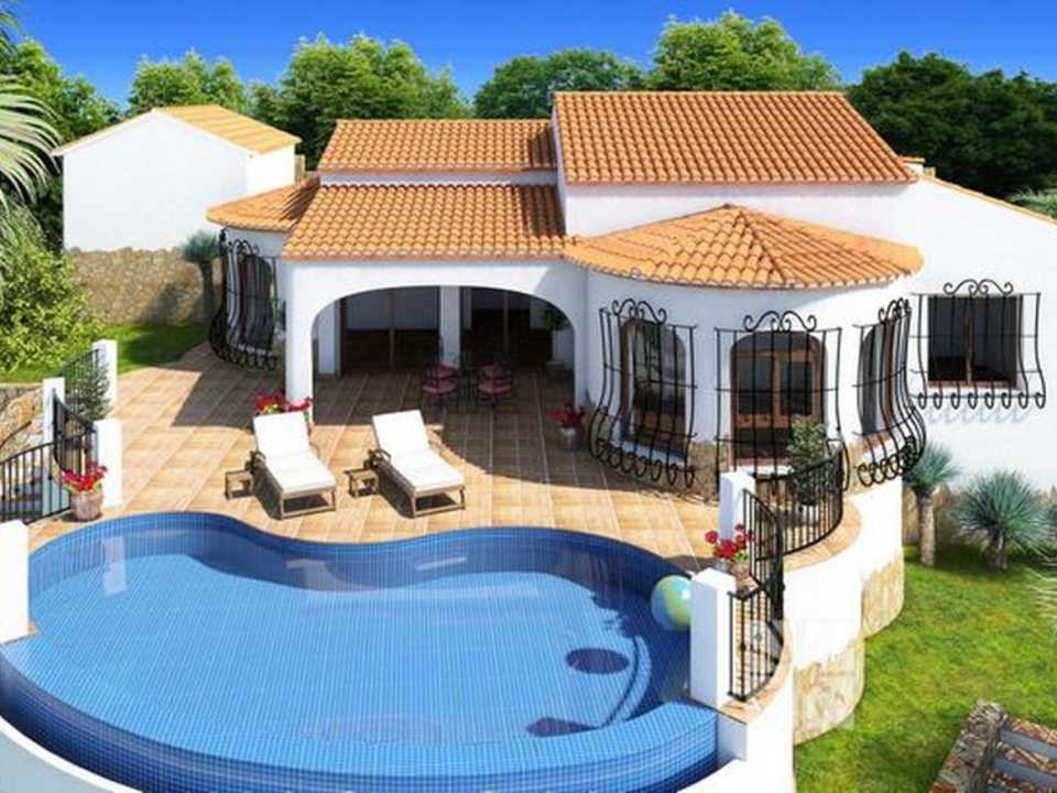 <h1> Villa model OSLO, villas for sale in Cumbre del Sol Costa Blanca.</h1>