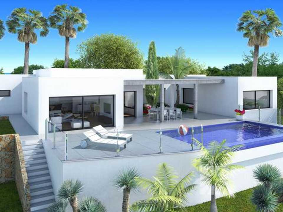<h1> Villa model BUDAPEST, villas for sale in Cumbre del Sol Costa Blanca.</h1>