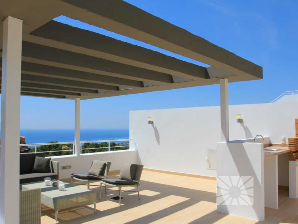 Marketing Exterior Vista desde Altea H2 Altea Golden AZURE ALTEA HOMES Altea