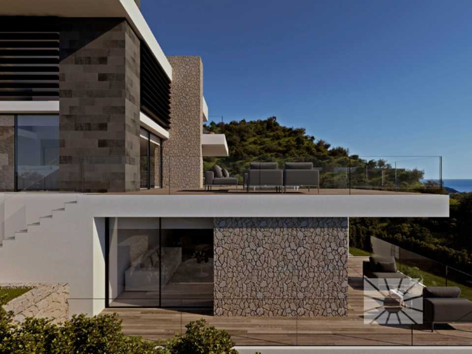Marketing Exterior Contemporáneo SUPERIOR PE038 Villa ESTRELLA