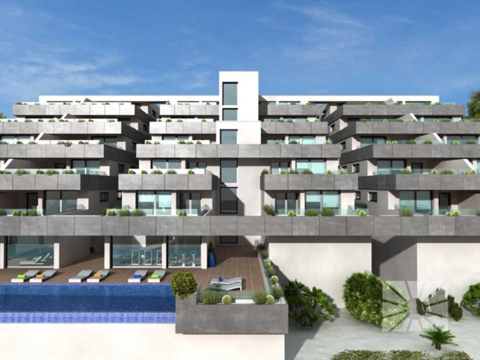 Marketing Exterior View towards Benitachell Cumbre del Sol LILIES TOWN HAPPINESS